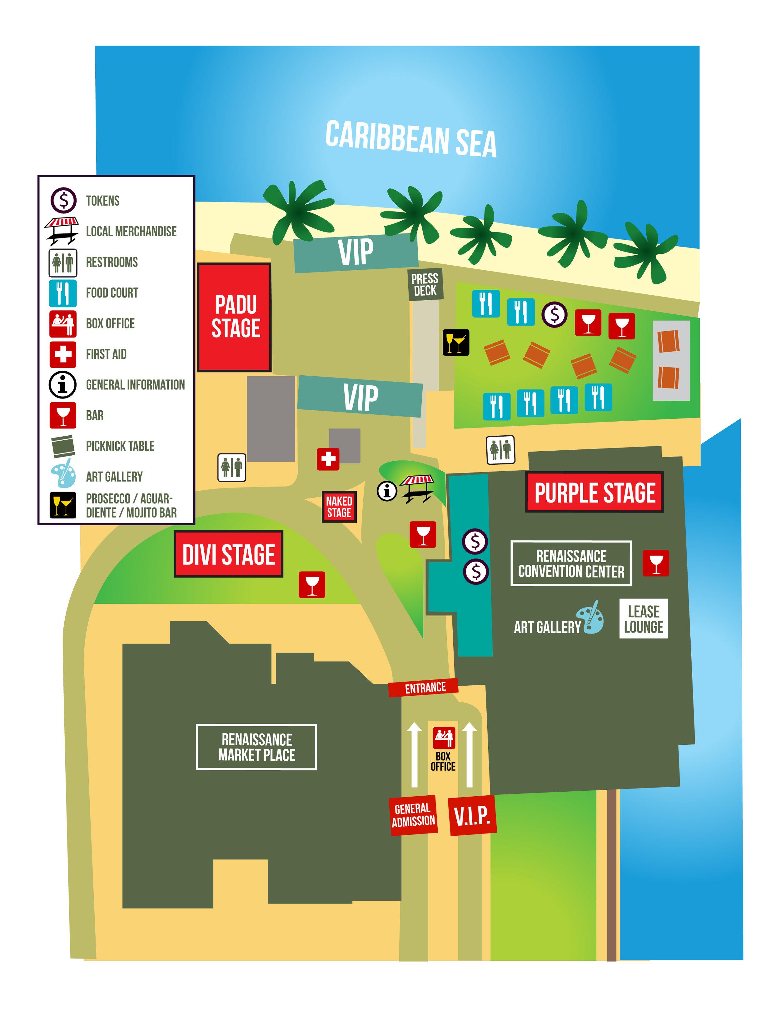 The venue floorplan