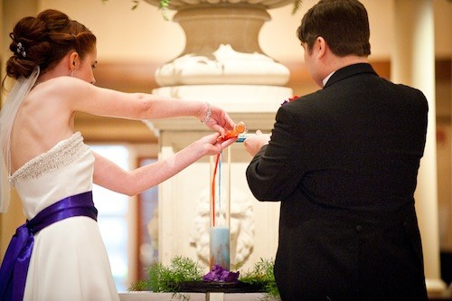 Chemical Reaction Ceremony - photo by  J Scott Photography