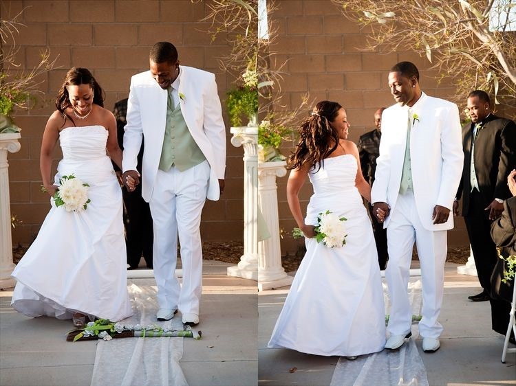 Crossing the Threshold / Jumping the Broom - photo by  Arizona Wedding Photography, Brenda Eden Photography and Amy Hill Photography