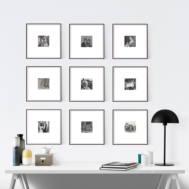 gallery wall cornici su misura