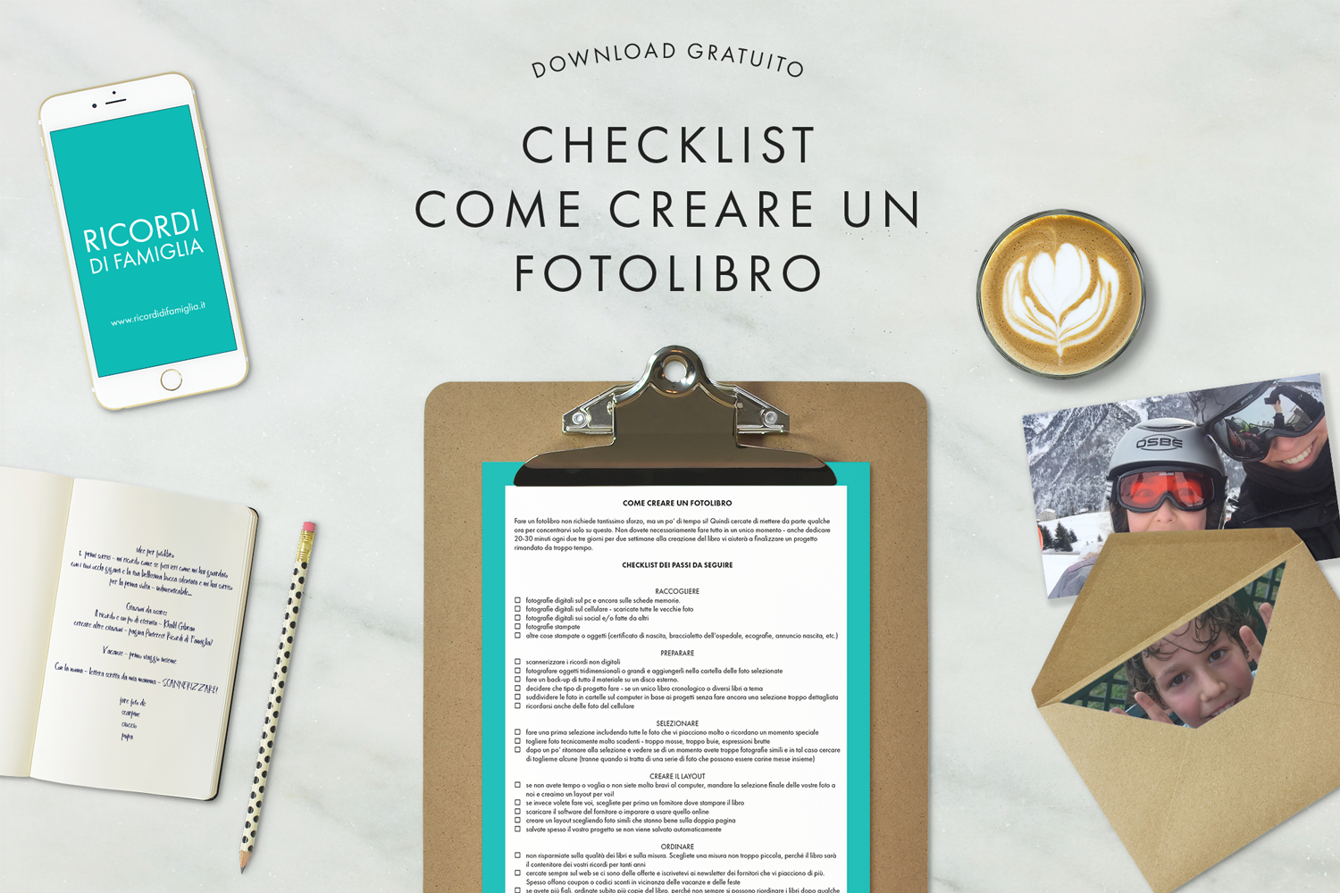 creare un fotolibro checklist download gratuito