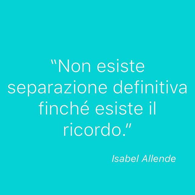 """""""Non esiste separazione definitiva finché esiste il ricordo."""" - Isabel Allende. Per questo le foto sono così importanti perché ci aiutano a ricordarci... iniziate a mettere in ordine le vostre foto digitali e a stamparle! #ricordidifamiglia #ricordo #citazione #instacitazione #stampaletuefoto #memorykeeping"""