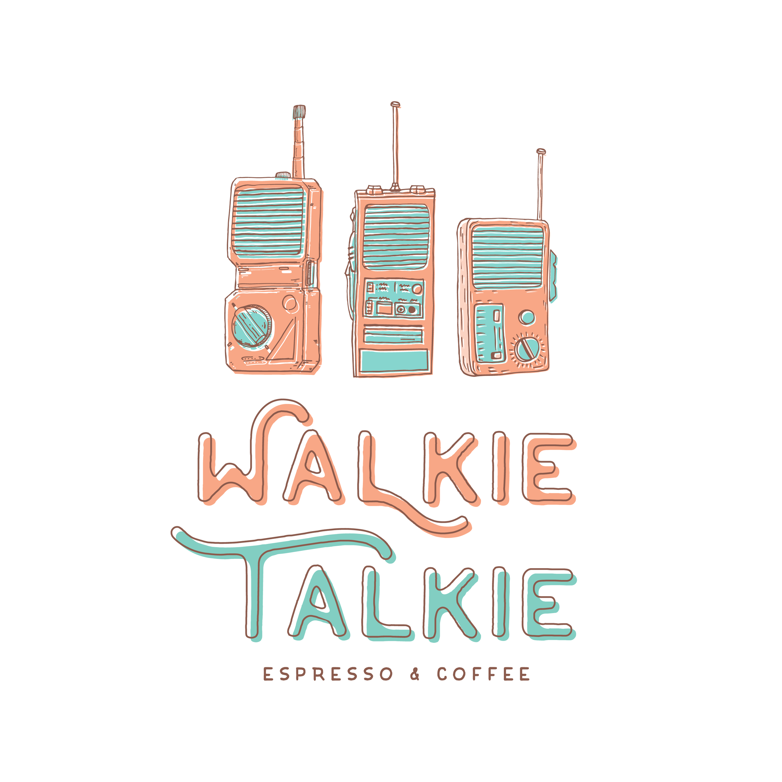 WALKIE TALKIE ESPRESSO & COFFEE / photography + design - Walkie Talkie Illustration by artist Cory Windland / A hip lil' neighborhood coffee shop in Canton, OH dishing out some delicious drinks with great vibes and conversations.
