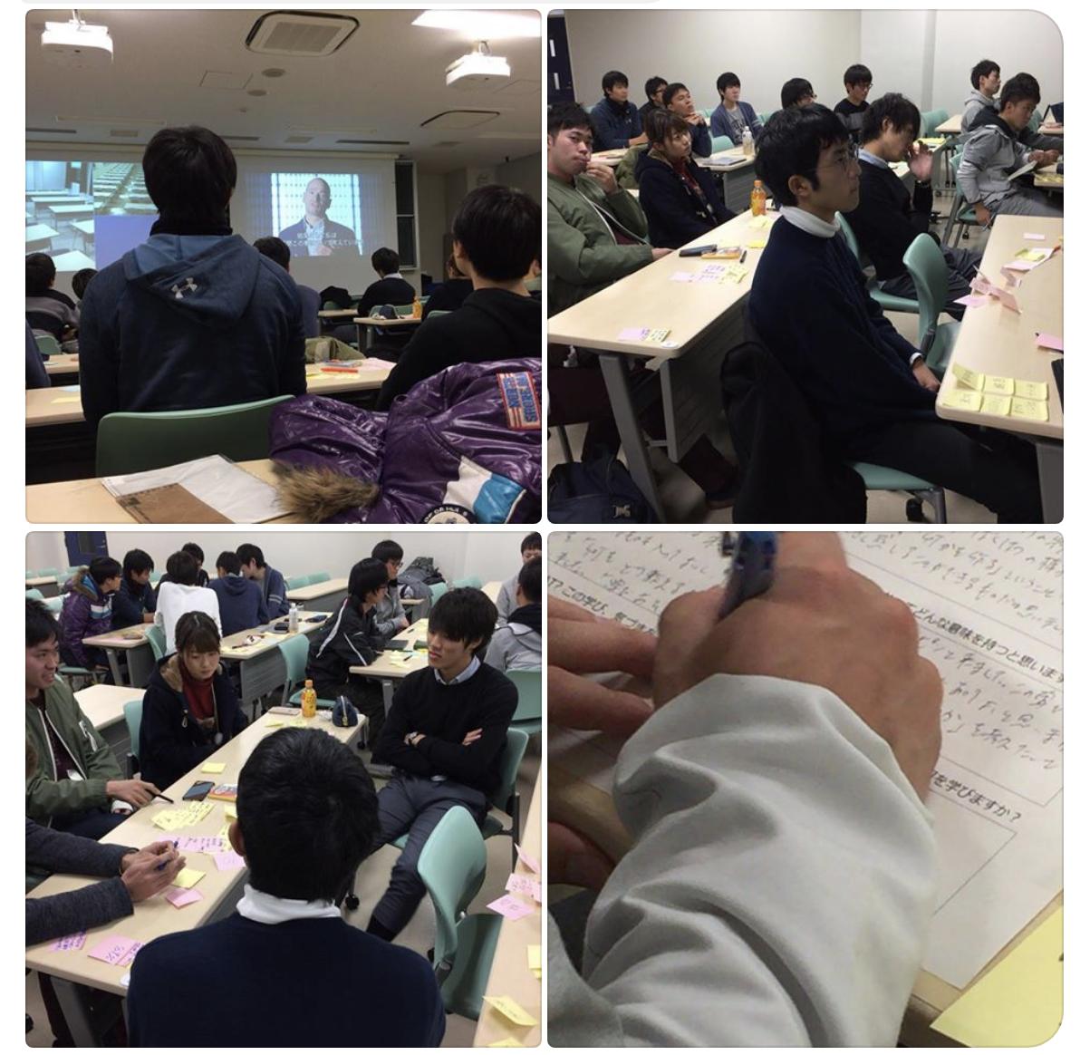 松永正樹先生(九州大学 ロバート・ファン/アントレプレナーシップ・センター(qrec) )の授業での様子