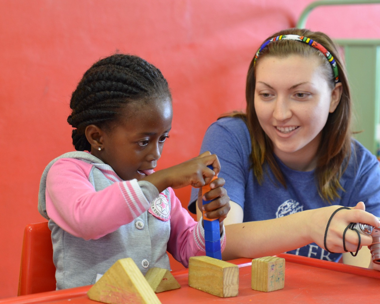 Hannah working with children in South Africa (2015)