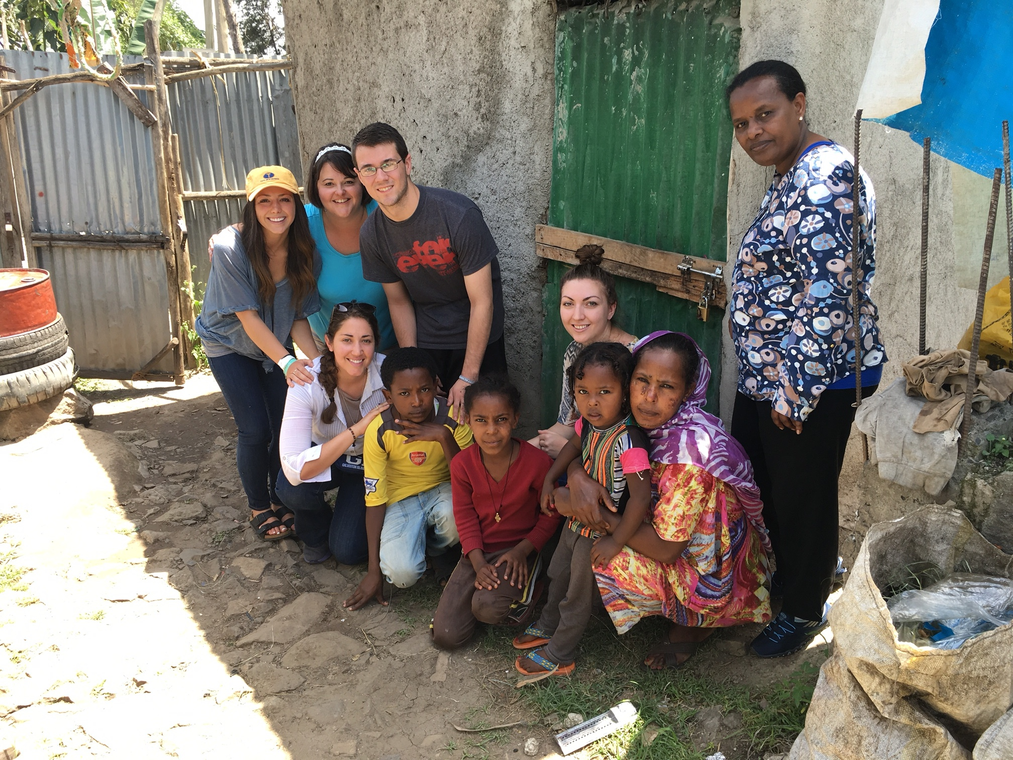 Hannah with her Journey Trip team and an Ethiopian family (2016)