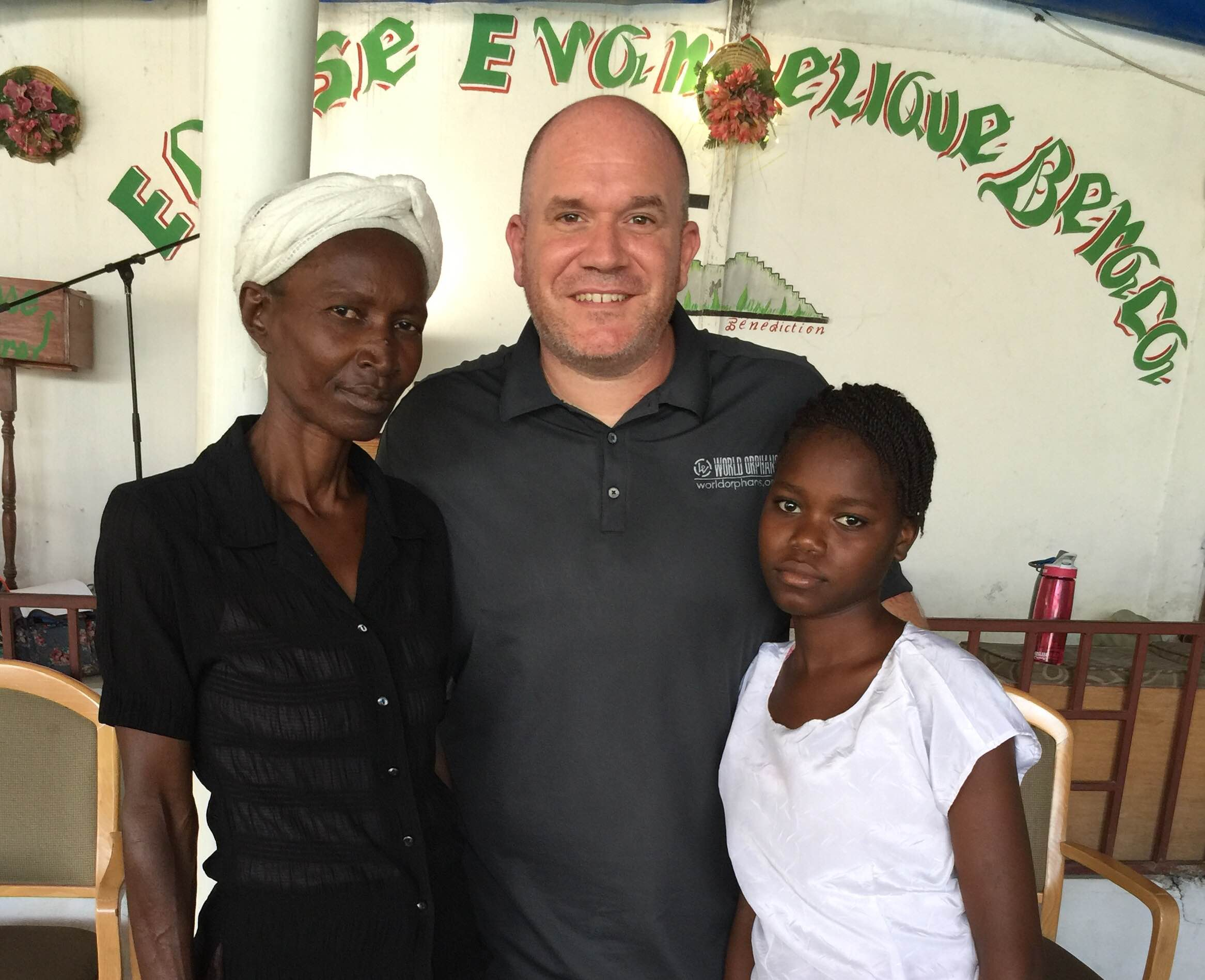 Frimose, Sr. Church Partnership Director Kevin Squires, and Saraphina