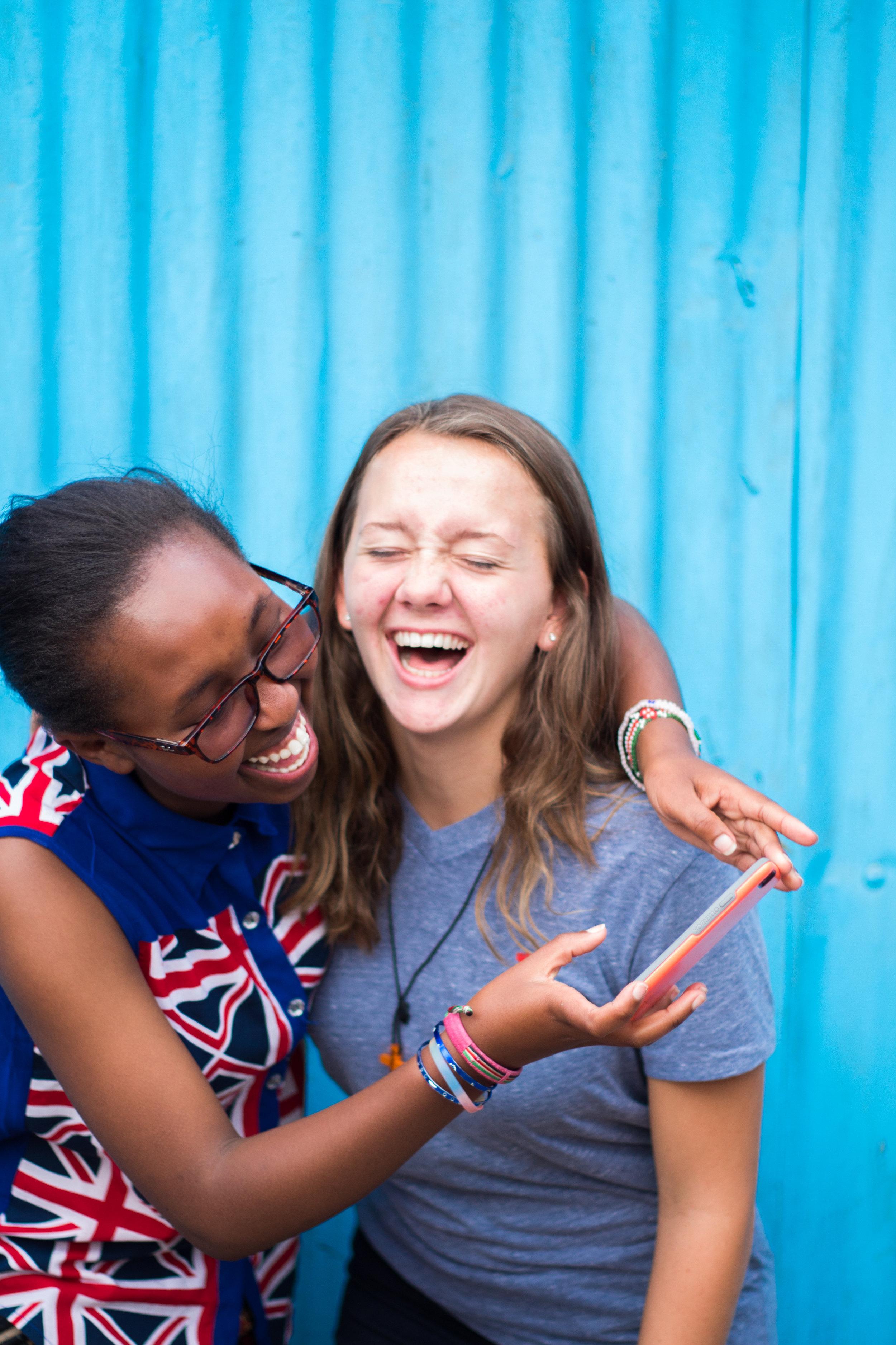 Rachel and a friend from River Oaks Community Church  (Photo Credit: Jason Dotsch)