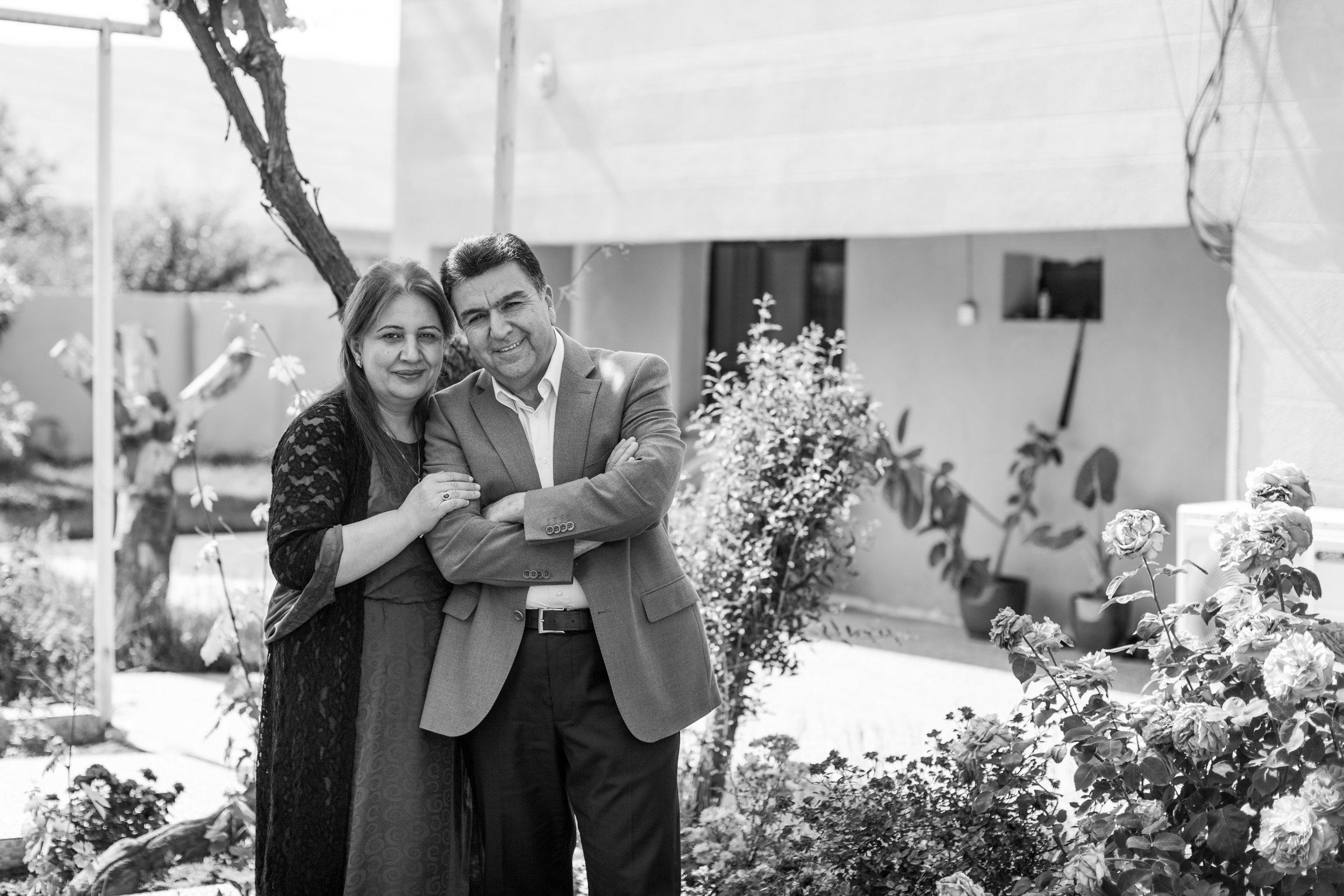 Mayor Krmanj Ezzat Dargali and his wife, Sayran // Photo Credit: Jessie Parks