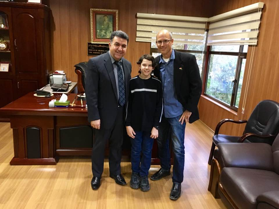 Left to Right: Mayor Krmanj Ezzat Dargali, Andrew, Billy