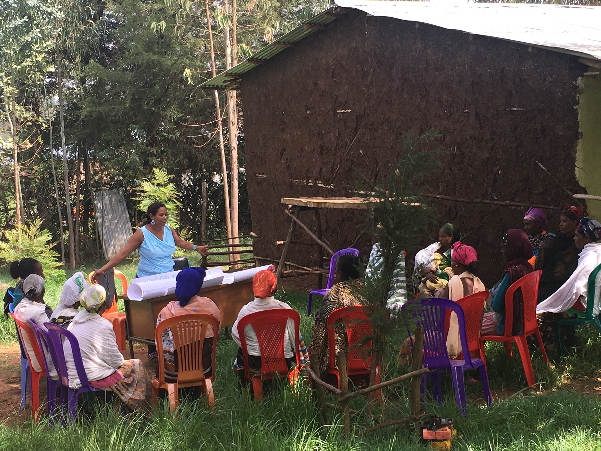 May 2017: A nutrition class was presented to Ethiopian caregivers.  After the class, the caregivers prepared a meal to eat together.