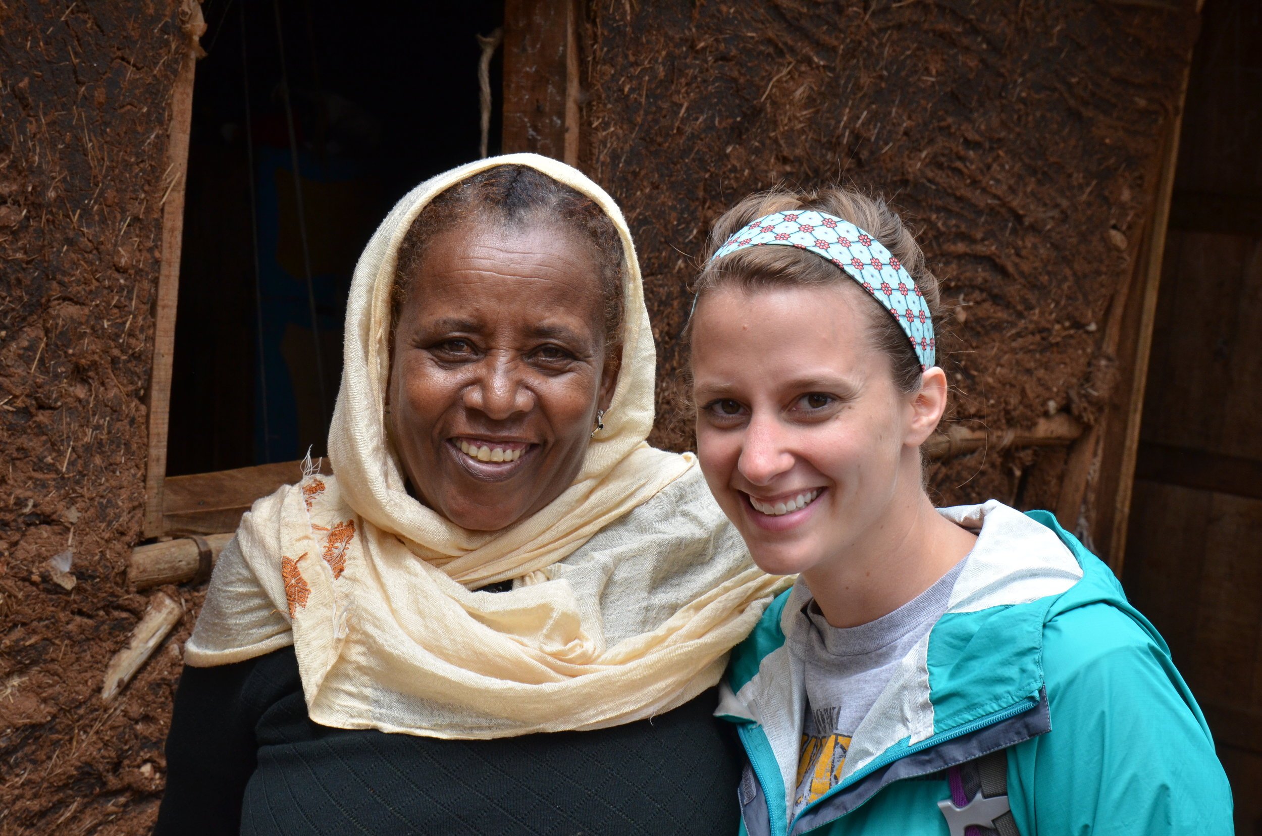 Belginesh Tena and Lauren Turpaud in Ethiopia