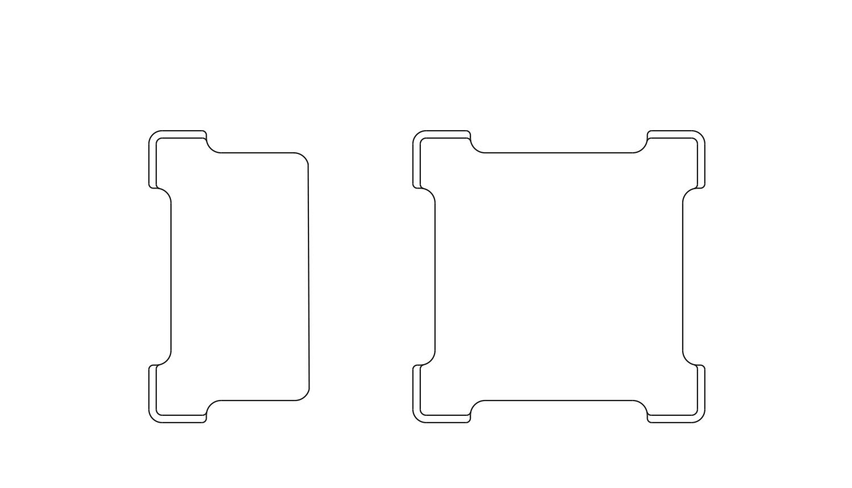 Table Insert - CNC cut-out with Rawside logoSingle desk insertDouble desk insertFinish: Natural, Custom