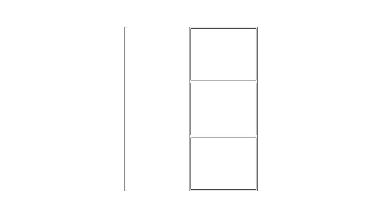 3 Panel Fixed - (W x H x D mm)500 x 2200 x 40500 x 2400 x 401000 x 2200 x 401000 x 2400 x 40