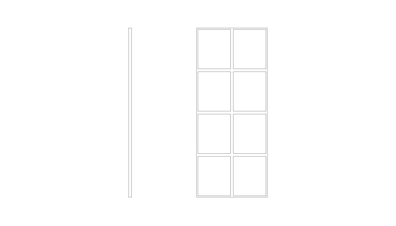 8 Panel Fixed - (W x H x D mm)1000 x 2200 x 401000 x 2400 x 40