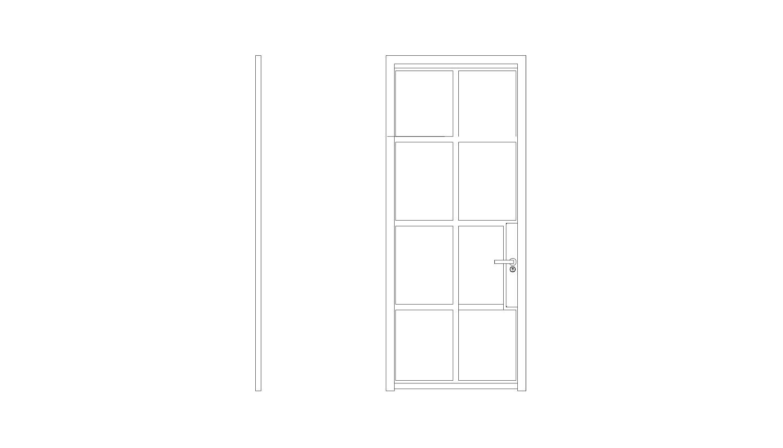 8 Panel Door - (W x H x D mm)1000 x 2200 x 401000 x 2400 x 40