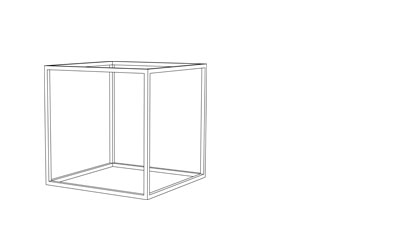 Cage Cube - (D x W mm)400mm3 12mm steel