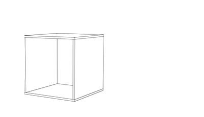 HDF & Ply Cube - (D x W mm)400mm3 12mm HDF or Natural Ply