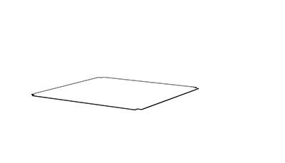 Inset Shelf - (D x W mm)398 x 398
