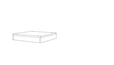 Plinth Single - (D x W x H mm)400 x 400 x 7516mm Black HDFLevelling feet