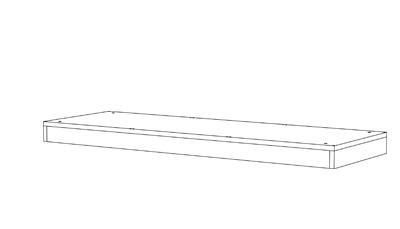 Plinth Treble - (D x W x H mm)1200 x 400 x 7516mm Black HDFLevelling feet