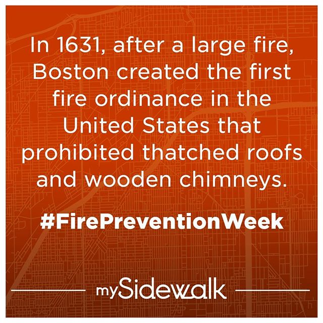 Wood doesn't seem like the best material for a chimney... 🤦 Thankfully, cities like Boston have been preventing fires and saving lives with policy for hundreds of years. #FirePreventionWeek