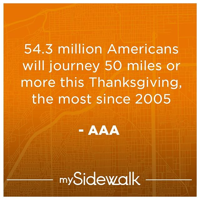 4.27 million of these travelers will be flying to have a meal with friends, family, and a flightless bird. Safe travels to all this #Thanksgiving! #turkeydaydata