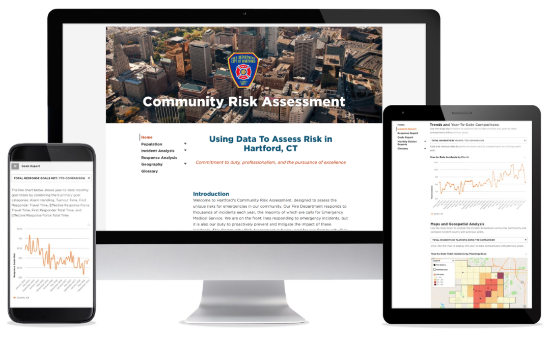 See Sample Community Risk Assessment Dashboard