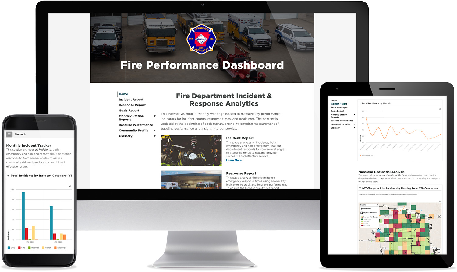 See Sample Emergency Response Performance Dashboard