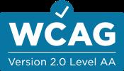 Logo of WCAG Version 2.0 Level AA