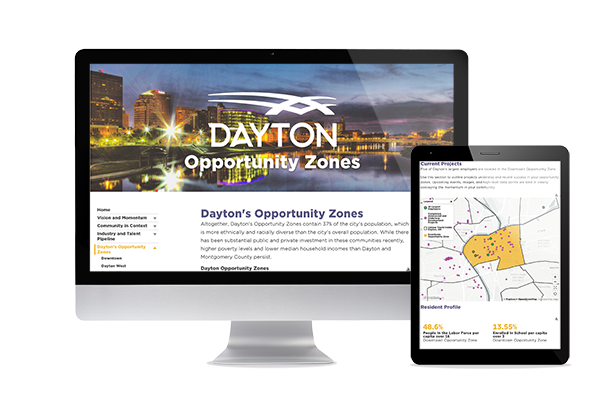Click to visit the City of Dayton's Opportunity Zone dashboard.