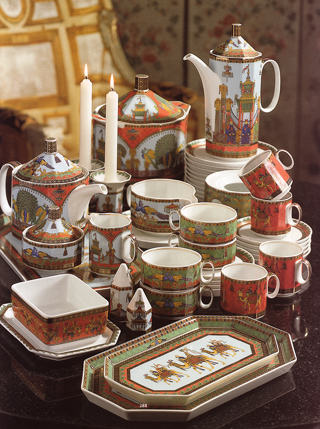A Rosenthal Porcelain 'Le Voyage de Marco Polo' Part Dinner Service designed by Gianni Versace