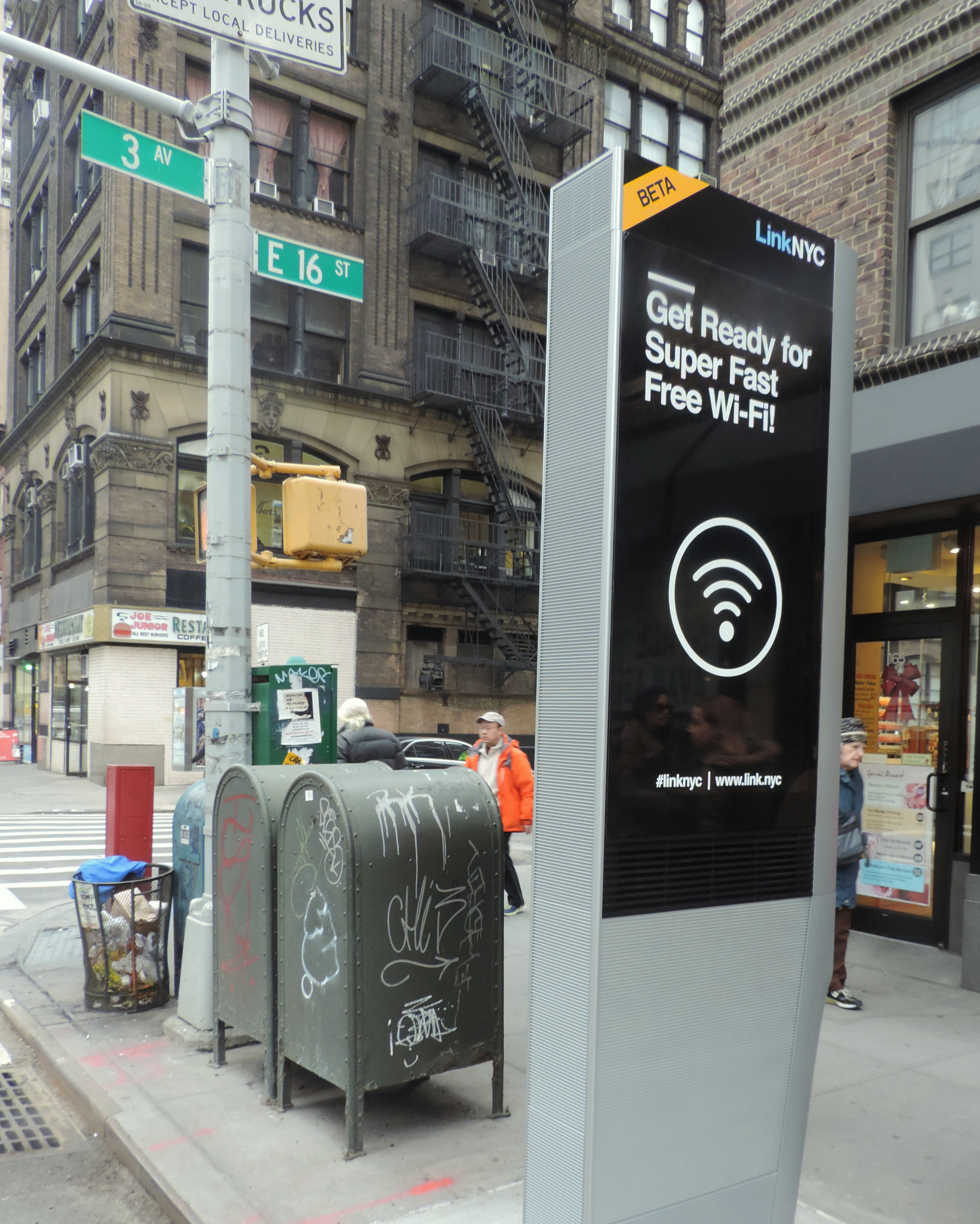 New Wifi Station on 16th Street.