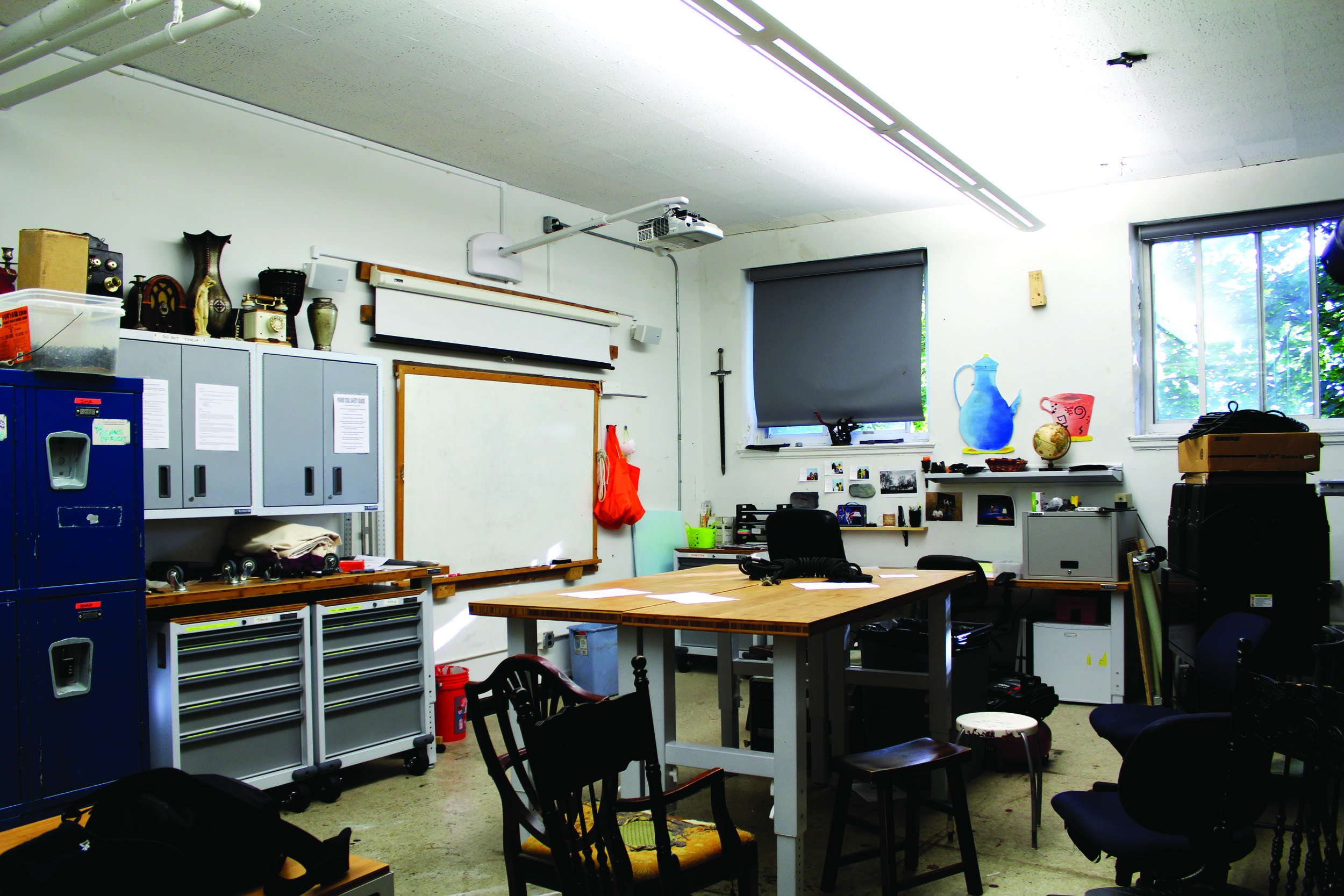 Maya Shabtai/The Riverdale Review  The tech theater classroom, where students learn the basics of tech theater,