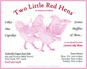 Photo courtesy of Inside New York  Two Little Red Hens's Contact Information.