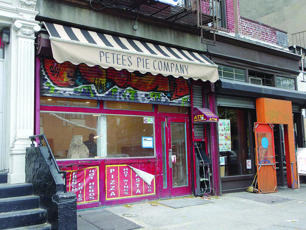 Photo courtesy of Bowery Boogie  The Outside of Petee's Pie Company.