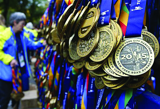 Photo courtesy of Time Kids  The Medals Gifted to Athletes in the New York City Marathon.
