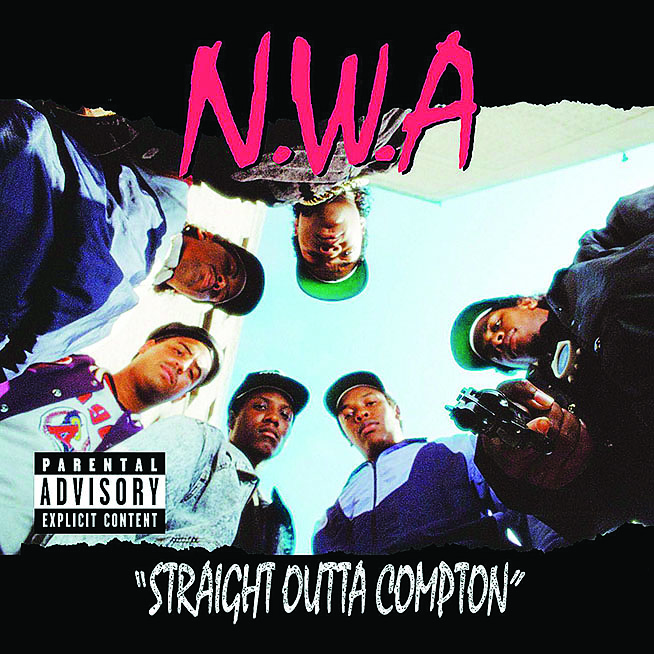 "Photo Courtesy of NWA  The nineties rap group NWA's EP ""Straight Outta' Compton"""