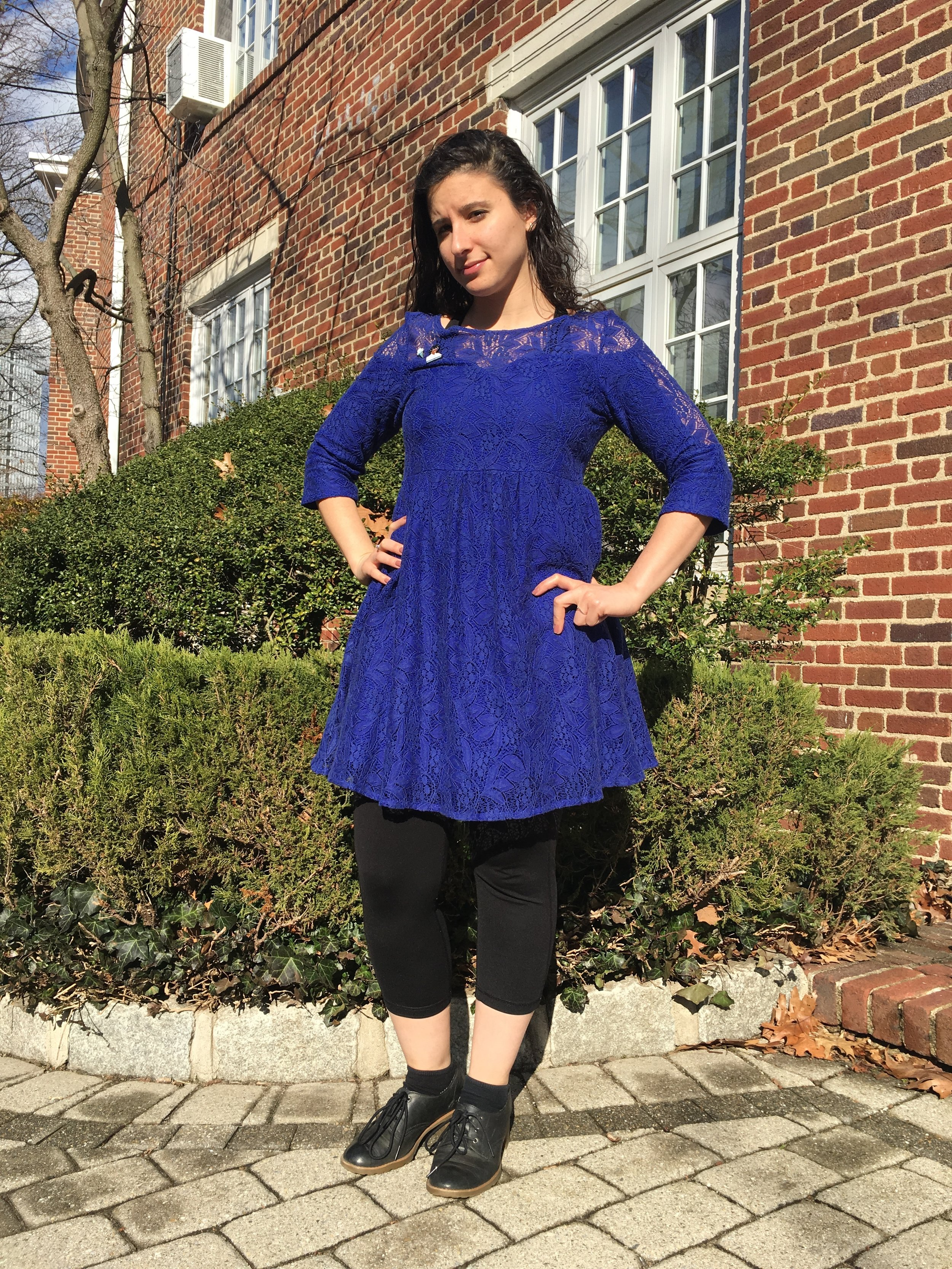 Katie Orenstein/Riverdale Review  Ms. Shorr Lesnick's Classic Winter/Spring Outfit.