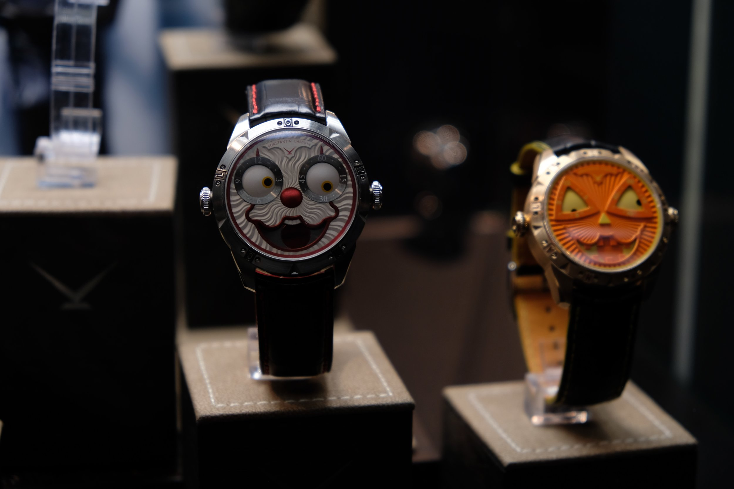 PHOTO COURTESY OF THE RIVERDALE REVIEW   KONSTANTIN CHAYKIN JOKER WATCH (LEFT), AND THEIR NEW RELEASE JOKER HALLOWEEN (RIGHT)
