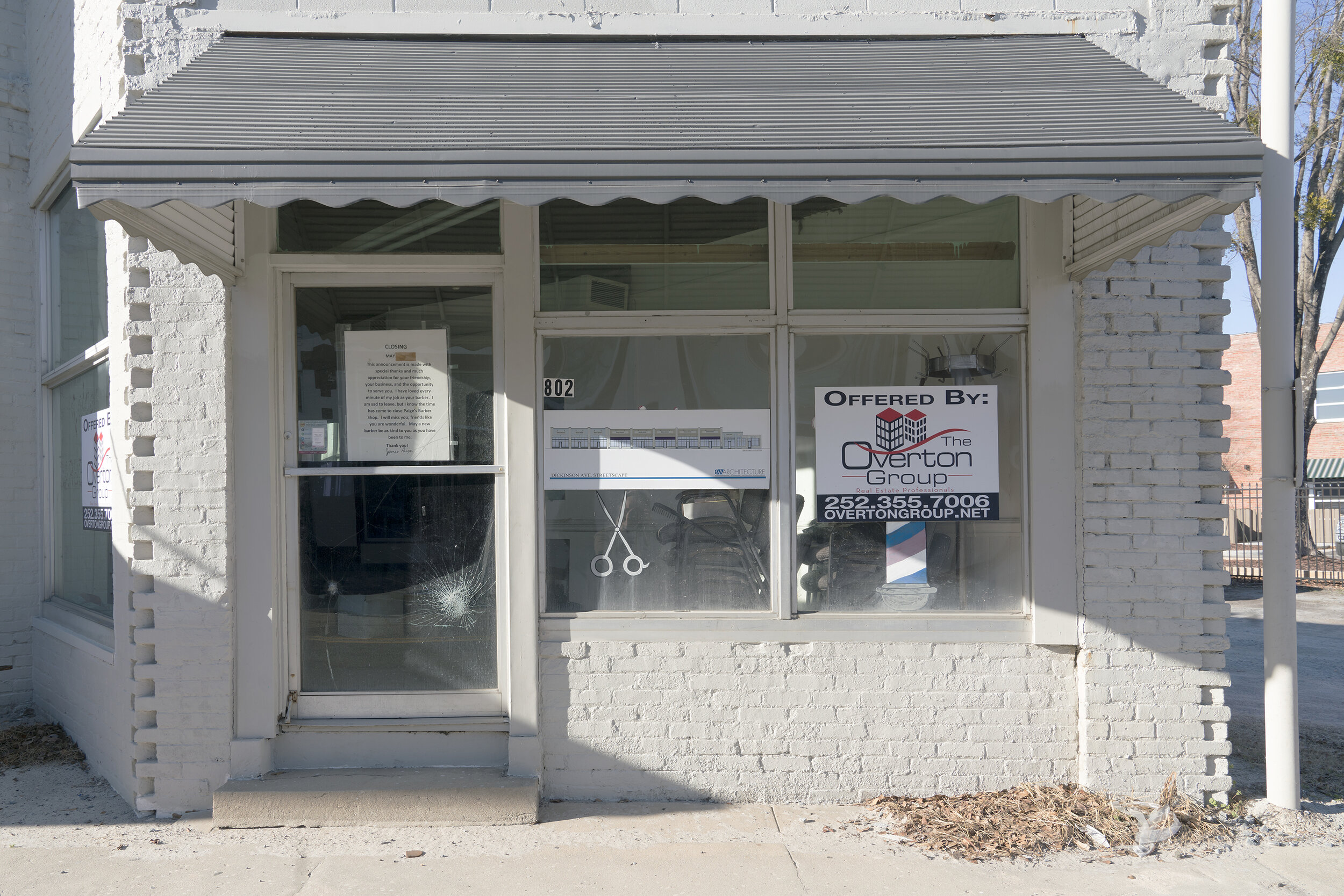 Paige's Barbershop , from  Revitalize: Dickinson Avenue , included in the MWSPE Student/Members Exhibition