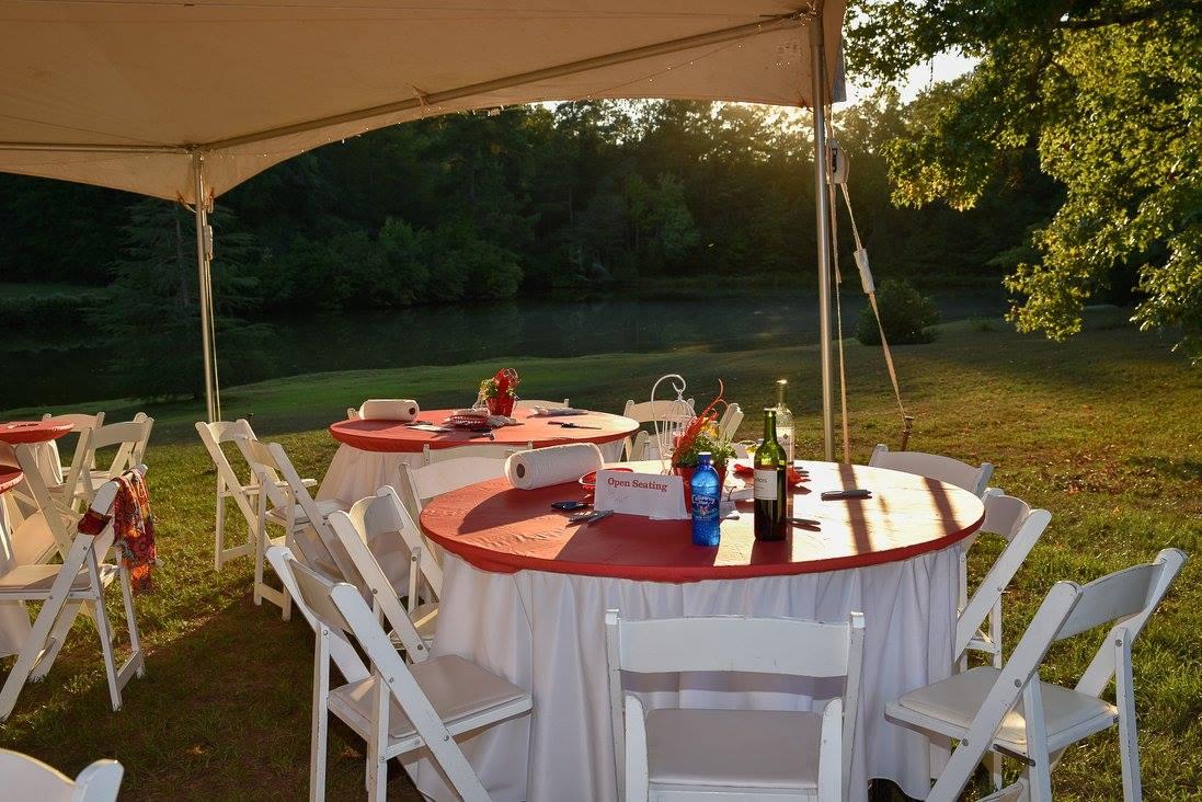Lobsterfest setting at Sweet Home Plantation.jpg