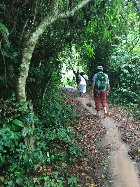 Walking sacred ground: The path to Assin Manso, to the river where captives were bathed before being sold.