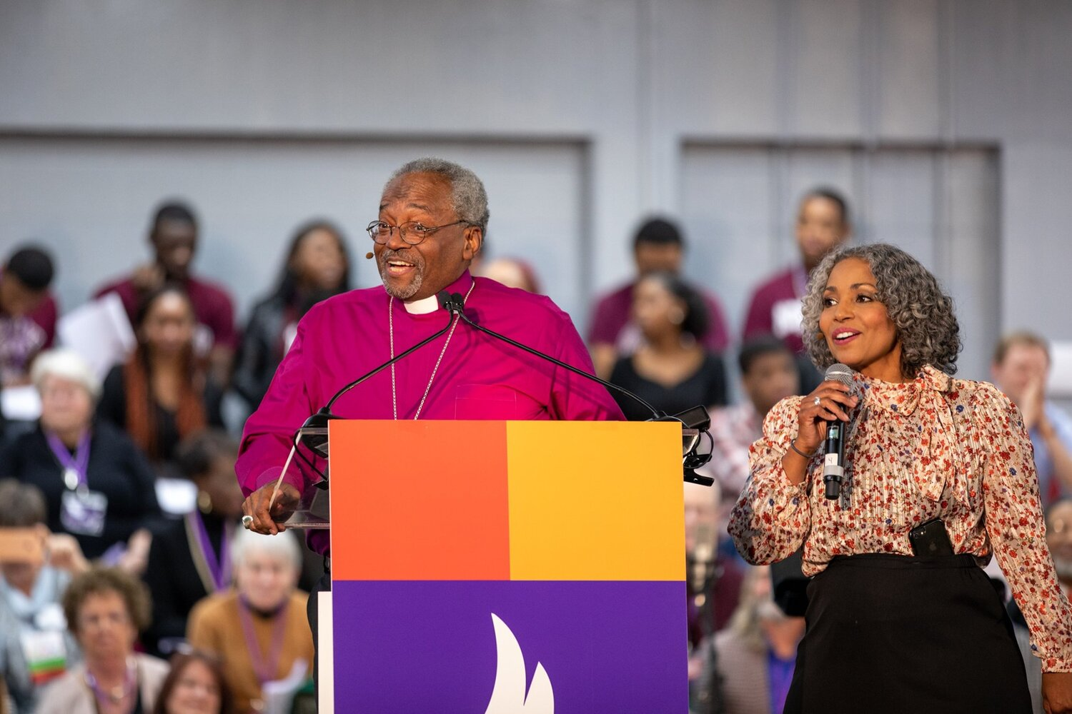 Presiding Bishop Michael Curry had the crowd rapt at attention throughout his sermon, one of many highlights of an engaging evening..