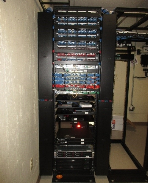E mtek installed data rack for large global enterprise customer