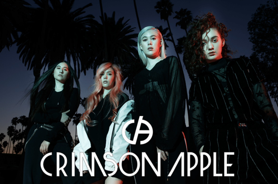 CRIMSON APPLE - Crimson Apple is a Hawaii born, but L.A. based all-girl band, consisting of four uber talented sisters. Colby Benson (Lead Vocals, Keys, & Key-tar), Shelby Benson (Lead Guitar & Vocals), Carthi Benson (Bass & Vocals) and Faith Benson (Drums) all work together to create beautiful, repeat-worthy tunes.