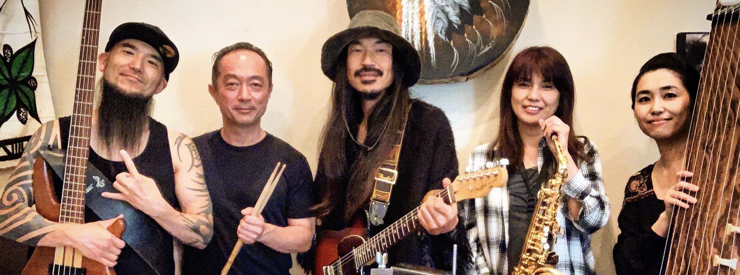 UMAMIX - Rock band UMAMIX blends the ancient sound of the Japanese koto, guitar, bass, drums, and saxophone.