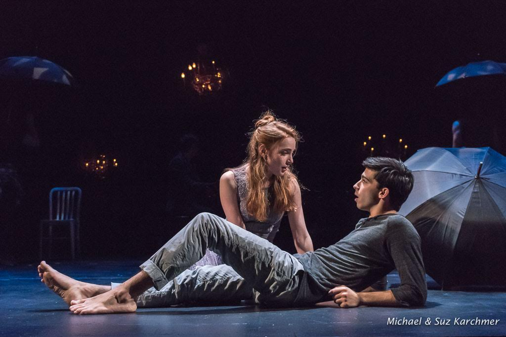 Alec Funicello and Ruby Wolf appear as Romeo & Juliet. Photographs by Suz & Michael Karchmer