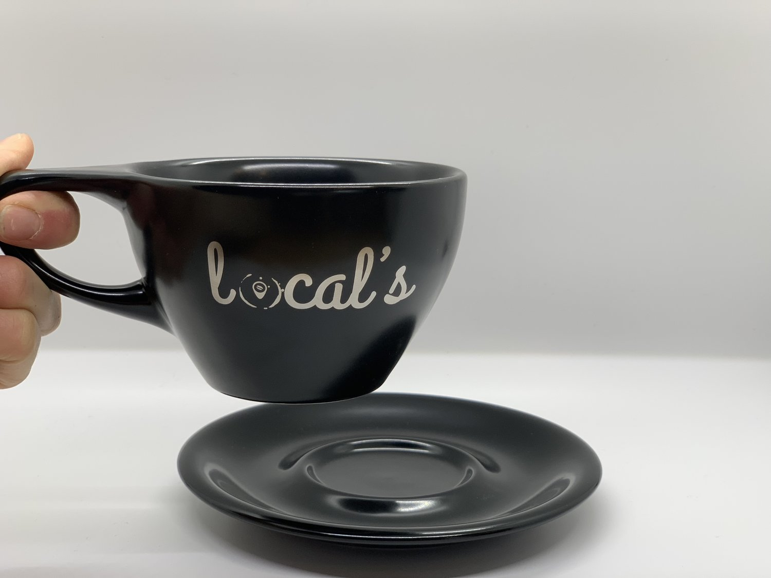12 oz Latte Cup and Saucer — Local's
