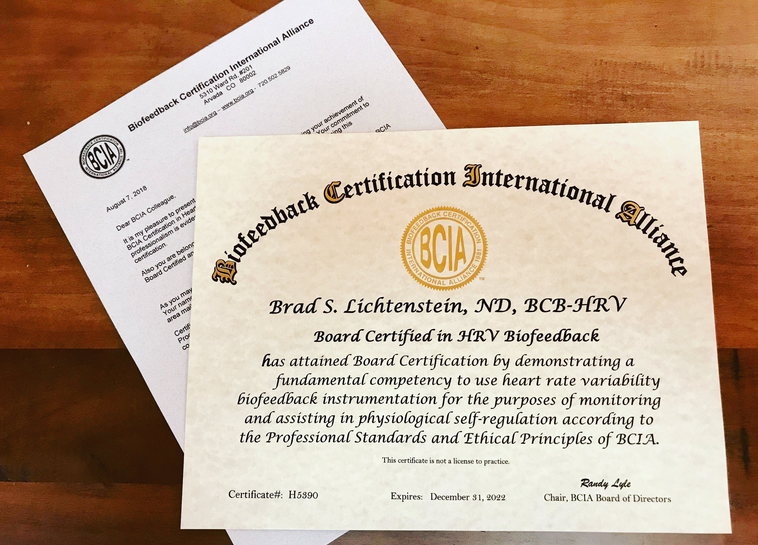 BCIA HRV Biofeedback Certification